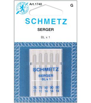 Schmetz Overlock Machine Needles 5/Pk-11/75,14/90