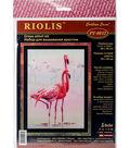 RIOLIS Combopu Cama 11.75\u0027\u0027x15.75\u0027\u0027 Stamped Cross Stitch Kit-Flamingo