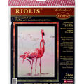 RIOLIS Combopu Cama 11.75\u0027\u0027x15.75\u0027\u0027 Stamped Cross Stitch Kit-Flamingo