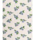 Modern Vintage Stretch Crepe Fabric 57\u0027\u0027-Blue Ditsy Floral