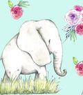 Snuggle Flannel Fabric 43\u0027\u0027-Elephant Joy