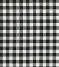 Oil Cloth Medium Gingham Black Oil Cloth Fabric