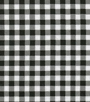 Oil Cloth Medium Gingham Black Oil Cloth Fabric