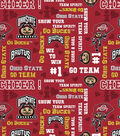 Ohio State University Buckeyes Cotton Fabric 44\u0022-Glitter