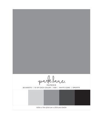 Park Lane 50 pk 8.5''x11'' Value Papers-Grays