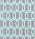 No-Sew Throw Fleece Fabric 72\u0022-Gray Aqua Chainlink