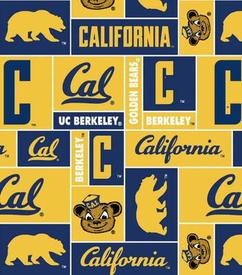 "University of California Berkeley Golden Bears Fleece Fabric 58""-Block"