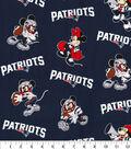 New England Patriots Cotton Fabric-Mickey Minnie