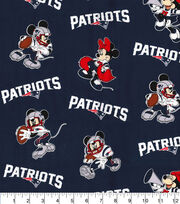 New England Patriots Cotton Fabric-Mickey & Minnie Mouses, , hi-res
