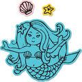 Sizzix Framelits Jen Long Die & Stamp Set-Mermaid