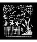 49 and Market 6\u0027\u0027x6\u0027\u0027 Laser Cut Shapes Archival Board-Escape White