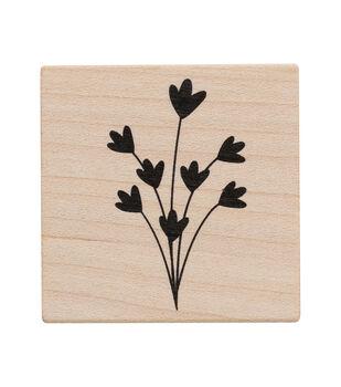 American Crafts Wooden Stamp Flower 2