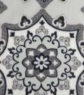 Anti-Pill Fleece Fabric 59\u0022-Gray Scale Medallion