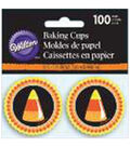 Wilton 100pcs Mini Baking Cups-Candy Corn