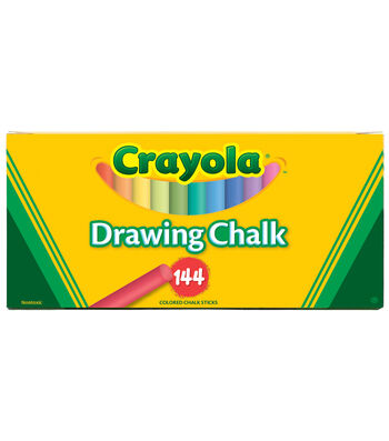 Crayola Art Colored Chalk 144/Pkg-Assorted Colors