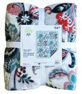 No Sew Fleece Throw 72\u0022- Green Coral Floral