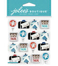 Jolee's Boutique Stickers-Travel Letterpress Icon