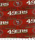 San Francisco 49ers Fleece Fabric 58\u0027\u0027-Red