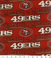 San Francisco 49ers Fleece Fabric -Red, , hi-res