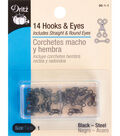Dritz Steel Hooks & Eyes-Black
