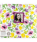 K&Company 12\u0027\u0027x12\u0027\u0027 Window Scrapbook-Purple Watercolor Poppies