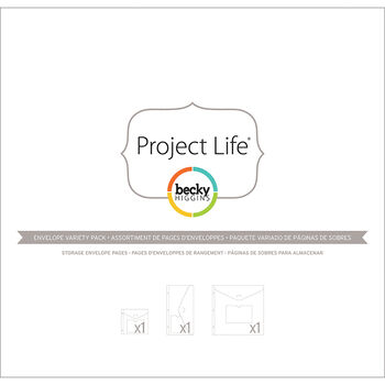 Project Life Big Envelope Pages 3/Pkg-Variety Pack