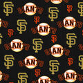San Francisco Giants Cotton Fabric -Glitter