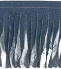 Simplicity Iron-On Patch Fringe Medium Denim