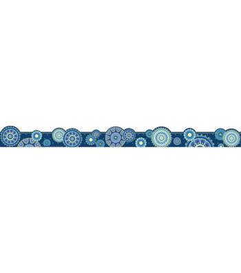Eureka School Extra Wide Deco Trim-Blue Harmony Mandala