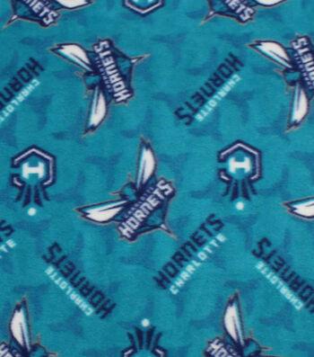 Charlotte Hornets Fleece Fabric -Logo Toss