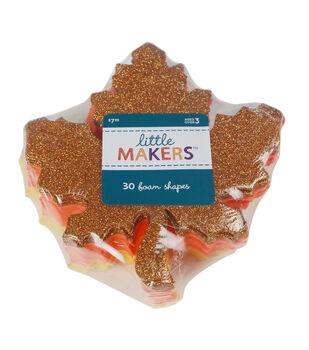 Little Makers Thanksgiving 30 pk Maple Leaf Foam Shapes