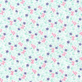 Wide Flannel Fabric -Purple Mint Ditsy