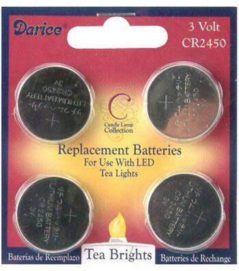 Darice 4 Pk 3V CR2450 Replacement Batteries