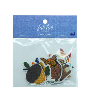 Fab Lab Wearables Fall Iron-on Appliques Value Pack