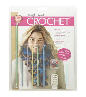 I Taught Myself to Crochet Beginner's Kit-Book, Hooks & More
