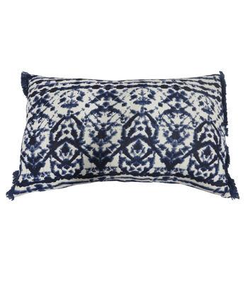 Indigo Mist Shibori Lumbar Pillow