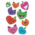 Uni-cat Hearts Sparkle Stickers-Large 18 Per Pack, 6 Packs