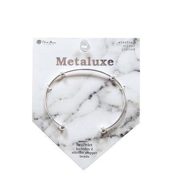 Metaluxe Bangle Bracelet-Silver