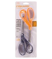"""Fiskars Premier 8"""" Bent Designer Scissors 2pk-SpiderWeb-Orange, , hi-res"""