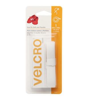 VELCRO Brand 0.63'' x 30'' Soft &Flexible Sew-On Tape