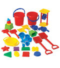 Learning Advantage Sand Play Tool Set, 30 Pieces