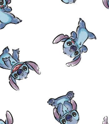 Disney Lilo & Stitch Flannel Fabric-Tossed