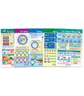 Math Bulletin Board Chart Set, Time & Money, Set of 5