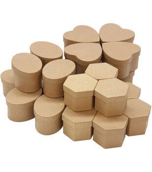 Paper-Mache Boxes Classpack 24pc Assortment-8 Each Of 3 Styles