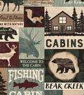 Snuggle Flannel Fabric-Bear Creek Cabin Patch