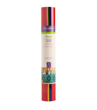 Cricut StrongBond 6 Sheets 12''x12'' Everyday Iron-on Samplers-Rainbow