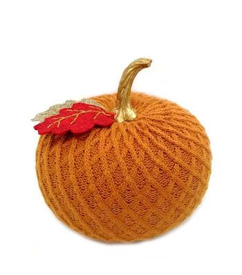 Simply Autumn Medium Sweater Knit Pumpkin-Orange