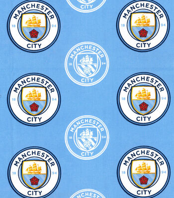 Manchester City Football Club Cotton Fabric 44''