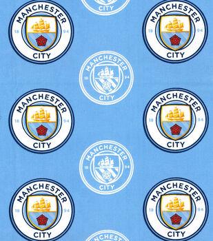 Manchester City Football Club Cotton Fabric