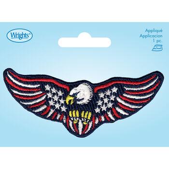 Wrights Iron-On Applique-US Flag/Eagle